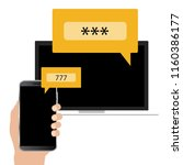 two step authentication concept.... | Shutterstock .eps vector #1160386177