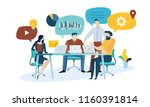 vector illustration concept of... | Shutterstock .eps vector #1160391814