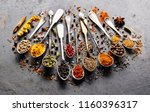 spices on black baclground   Shutterstock . vector #1160396317