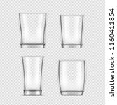 realistic glass cup.... | Shutterstock .eps vector #1160411854