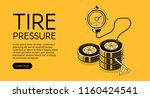 tire pressure pumping vector... | Shutterstock .eps vector #1160424541
