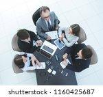 top view.business team working... | Shutterstock . vector #1160425687