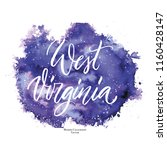 us state name  west virginia ... | Shutterstock .eps vector #1160428147