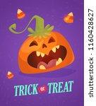 happy halloween greeting card...   Shutterstock .eps vector #1160428627