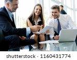 business people meeting... | Shutterstock . vector #1160431774