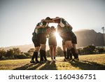 rugby players standing in a... | Shutterstock . vector #1160436751