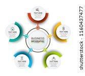 modern infographics template | Shutterstock .eps vector #1160437477