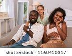 happy family. positive nice... | Shutterstock . vector #1160450317