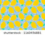 seamless pattern with lemons.... | Shutterstock .eps vector #1160456881