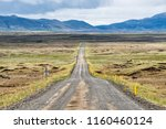 dirt road in north east iceland ... | Shutterstock . vector #1160460124