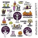 vector hand drawn illustrations ... | Shutterstock .eps vector #1160473777