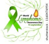 background. green ribbon. world ... | Shutterstock .eps vector #1160476954