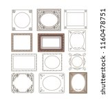 set of floral frames border for ... | Shutterstock .eps vector #1160478751