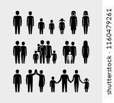 family vector icons set | Shutterstock .eps vector #1160479261
