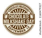 chocolate milkshake day ...   Shutterstock .eps vector #1160479327