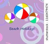 beach ball summer holiday...   Shutterstock .eps vector #1160479474