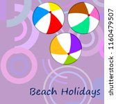 beach ball summer holiday...   Shutterstock .eps vector #1160479507