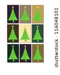 christmas trees | Shutterstock . vector #116048101