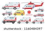ambulance car vector emergency... | Shutterstock .eps vector #1160484397