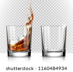 empty and full whiskey glass... | Shutterstock .eps vector #1160484934