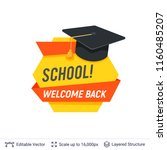 black student graduating cap... | Shutterstock .eps vector #1160485207