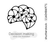 intuitive decision making ... | Shutterstock .eps vector #1160486971