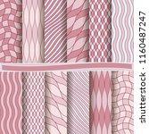 set of abstract vector paper... | Shutterstock .eps vector #1160487247