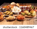 middle eastern or arabic dishes ... | Shutterstock . vector #1160489467