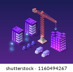 industrial city building with... | Shutterstock .eps vector #1160494267
