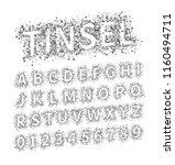 uppercase regular display font...   Shutterstock . vector #1160494711