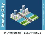 vector isometric urban... | Shutterstock .eps vector #1160495521