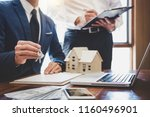 real estate agent and sales... | Shutterstock . vector #1160496901