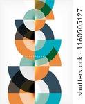 modern circle abstract... | Shutterstock .eps vector #1160505127