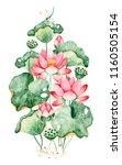 lovely watercolor illustration... | Shutterstock . vector #1160505154