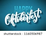 oktoberfest celebration... | Shutterstock .eps vector #1160506987