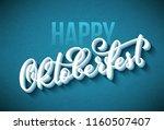 oktoberfest celebration... | Shutterstock .eps vector #1160507407
