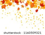 fall leaves isolated | Shutterstock .eps vector #1160509321