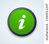 info button illustration | Shutterstock .eps vector #1160511247