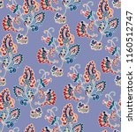 seamless vector indian floral... | Shutterstock .eps vector #1160512747
