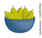 fresh pears in bowl healthy food | Shutterstock .eps vector #1160515981