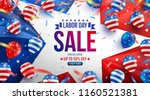 labor day sale poster template... | Shutterstock .eps vector #1160521381