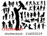 silhouettes of family and... | Shutterstock .eps vector #116053219