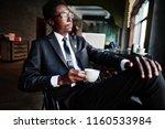 business african american man... | Shutterstock . vector #1160533984