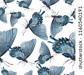 exotic butterflies wild insect... | Shutterstock . vector #1160540191