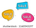 collection of sale hand drawn... | Shutterstock .eps vector #1160543197