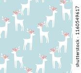 seamless hand drawn christmas...   Shutterstock .eps vector #1160549617