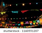 beautiful rainbow colored paper ... | Shutterstock . vector #1160551207