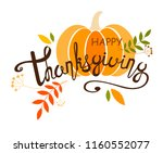 painted handwritten text.... | Shutterstock .eps vector #1160552077