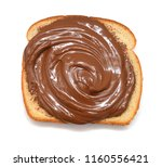 toast with chocolate butter... | Shutterstock . vector #1160556421