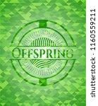 offspring green emblem with... | Shutterstock .eps vector #1160559211